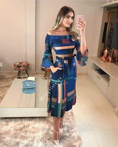 Image may contain: 1 person, standing Outfit Posts, My Outfit, Girl Fashion, Fashion Dresses, Womens Fashion, One Piece Dress, Skirt Outfits, Designer Wear, Glamour