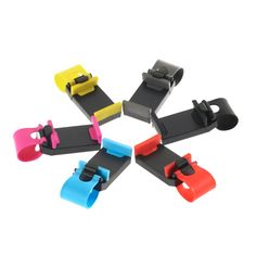 Hot hoge quality1pcs auto stuurwiel mount houder rubber band voor iphone voor ipod mp4 gps mobiele telefoon houder promotie