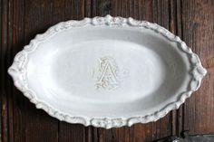 Personalized Vintage Inspired Ceramic Wedding by vanIveyCeramics