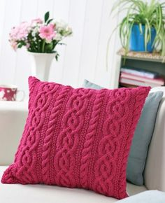 Cable Cushion Knit Pattern