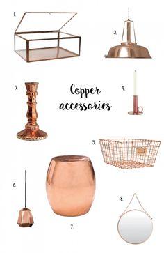 Petite amie #inspiratie #koperen #accessoires voor in huis!