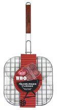 Cook up to four large burgers at once in this handy grill basket. Three separate compartments hold patties securely in place, making it easy to flip all at once for even cooking. Grill Basket, Homemade Hamburgers, Living On A Budget, Dad Day, Burger Recipes, Grilling, Bbq, Luggage Sets, Camping Tips