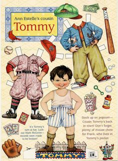 Mary Engelbreit's Home Companion Paper Dolls, Cousin Tommy by Le Petit Poulailler, via Flickr