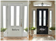 LOVE THIS!!!! I am painting all my interior doors black!!!