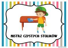 Dyżurni w przedszkolu - materiały do pobrania - Pani Monia