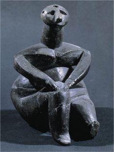 "Seated Venus c. 4500 BCE Cernavodă, Romania Ceramic height 41/2"""