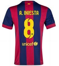 14-15 Football Shirt Barcelona Cheap A.Iniesta #8 Home Replica Jersey [143]