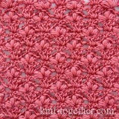 "Crochet Stitch Pattern ""Cherry Blossoms"" - detailed description and crochet…"