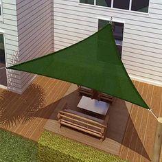 New ProSource Sand Color Oversized Sun Shade Sail Shade canopy Sun Shelter Triangle Shade Sail, Sun Sail Shade, Shade Sails, Outdoor Shade, Pergola Shade, Backyard Shade, Shade Garden, Sun Sails, Sail Canopies