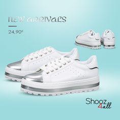 Λευκά flatforms sneakers #shooz4all #flatforms #sneakers