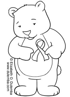 coloring pages for cancer awareness | Pregnancy and Infant Loss Awareness Coloring Page by ...