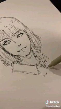 Fairy Drawings, Art Drawings Sketches Simple, Pencil Art Drawings, Cool Drawings, Girl Sketch, Cartoon Art Styles, Art Reference Poses, Art Sketchbook, Art Tutorials
