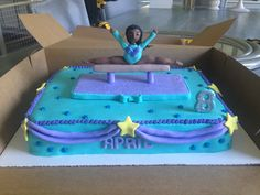 Gymnastics Birthday cake by Sweetest Things in Cincy
