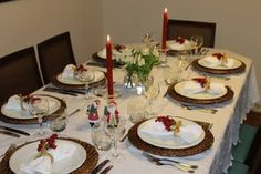 Resultado de imagem para mesa de natal simples