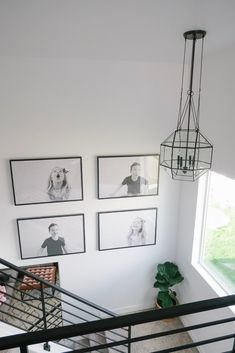 Stair Well Make-Over - Project Weekley Stairwell Wall, Stairway Walls, Staircase Wall Decor, Stairway Decorating, Foyer Wall Decor, Stair Decor, Stair Photo Walls, Stair Well, Black And White Photo Wall