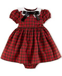 Ralph Lauren Baby Girls' Poplin Plaid Dress - Kids Baby Girl (0-24 months) - Macy's