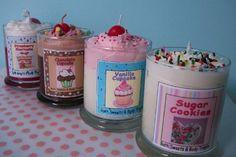 kawaii sugar scented candles cute