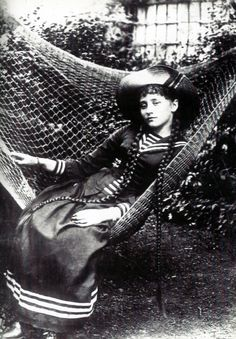 French author Colette, late 1800s.
