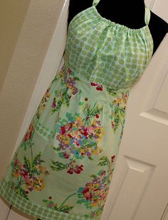 finish decorating/sewing my pretty apron - I started this project years ago and I will finish it - hopefully soon!