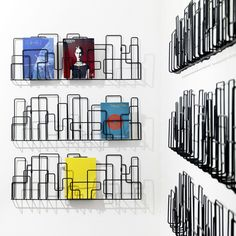 A piece of wall art or a piece of functional design - you decide with the City Sunday magazine rack. Designed by Olle Wingård & Ingrid Svensson in the style of real city skylines, this wall-mounted rack is made of. Magazine Holders, Magazine Racks, Magazine Deco, City Magazine, Magazine Stand, Magazine Storage, Rack Design, Shelf Design, 3d Prints