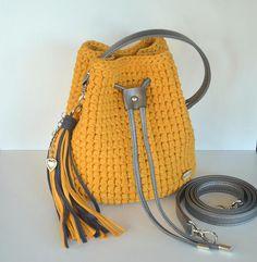 Hey, I found this really awesome Etsy listing at https://www.etsy.com/listing/591750599/crochet-handbag-mustard-bucket-bag