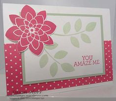 Here is another card made with the stamp set called Crazy About You. It is a set that is in the 2015 Occasions Catalog. This catalog will be around until June Sometimes sets that are in the . Flower Stamp, Flower Cards, Crazy About You, Stamping Up Cards, Tampons, Card Making Inspiration, Flower Tutorial, Paper Cards, Cool Cards