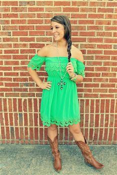 Hannah Dress - Green
