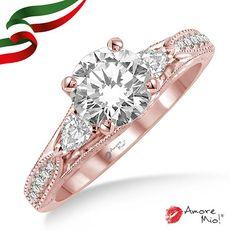 Anillo de oro Rosa 14kt SKU: RG1430357A Diamante Round 0.60 quilates. Color-G, Claridad-VS2, Laboratorio-EGL (EC) SKU Diamante: 32689 Precio: $58,434.03 pesos M.N *Consulte términos y condiciones.