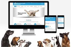 Part of the Family Kennels Website  This custom WordPress web development project was created for a popular pet boarding facility in Florida. The design is clean, mobile responsive, SEO friendly and has some really great stock photos included.