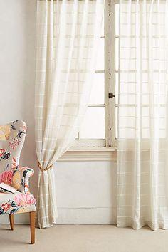 Entryway curtains?  Sun Shadow Curtain - anthropologie.com