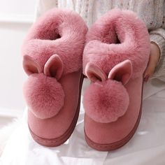 800+Sold, Hot Sales!! The adorable bunny ears combined with ultra-soft plush fuzziness makes these slippers the ultimate go-to this winter! Cozy and cute, you'll never want to take these off as you Netflix n' chill! Get yours Before its SOLD OUT! Enjoy this New Year with Neulons.com Grab this OFFER Now!! Fluffy Bunny, Bunny Plush, Bordeaux, Bunny Slippers, Pink Slippers, Winter Slippers, Cotton Texture, Rabbit Ears, Womens Slippers