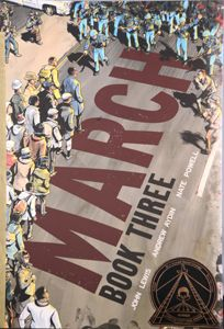 """""""March: Book Three,"""" is a first-hand account of the Civil Rights Movement through Lewis' eyes. Using vivid language and dynamic visual storytelling, it details events from the Freedom Summer to the 1965 Voting Rights Act. Readers experience the realities"""