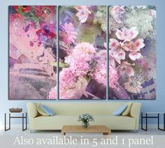 Modern wall art 'FLORAL GRUNGE "