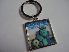 Monsters University Disney inspired Sulley Mike keychain by ImAsMADaSaHaTTeR, $8.00