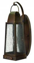 Hinkley 1770SN - One Light Sienna Clear Seedy Glass Wall Lantern