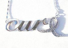 Gray Ribbon: Diabetes, Brain Cancer, Asthma, Parkinson's Desease Awareness by Go Sports Jewelry.com