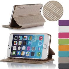 AVAWO iPhone 6 Case, Creative Smart Folio Ultra Thin Cover Case for Apple iPhone 6 4.7 inch [Lifetime Warranty] - Gold AVAWO http://www.amazon.com/dp/B00NXI9LG0/ref=cm_sw_r_pi_dp_igCVub18P9K69