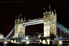 The Tower Bridge London at Night signed 8x12 by HConwayPhotography, $32.00