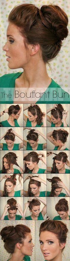 One of our hairstyle obsessions - the bouffant braid! Here's a great tutorial!: