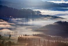 Illuminated hills by Marcin Sobas
