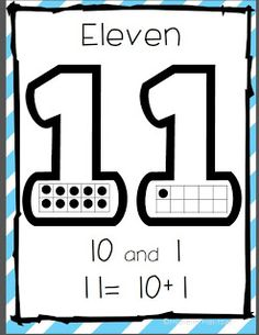 Common Core Aligned Teen Number Posters (from Kindergarten Stars)