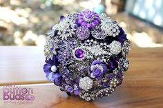 #Beautiful #purple and #silver #broochbouquet! This bouquet is such a #crowd #pleaser! What are your thoughts on this one? I would #love to hear :)  #alternativebouquet #stunning #brooches #sparkles #alternative #wedding #bride #instaweddings #handmade #love #weddingparty #celebration  #bridesmaids #happiness #ceremony #romance #marriage #weddingday #broochbouquets #fashion #flowers #australia  www.nicsbuttonbuds.com.au www.facebook.com/nicsbuttonbuds www.pinterest.com/nicsbuttonbuds…