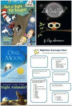 Explore science at dark with this free nocturnal scavenger hunt experience! Great book list included too.