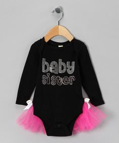 Take a look at this Black 'Baby Sister' Bodysuit - Infant by Rhinestone Fabuless on #zulily today!