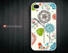 iphone 4 case iphone 4s case iphone 4 cover classic illustrator tree and bird graphic design printing. $14.99, via Etsy.