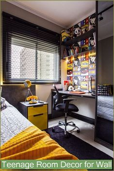 This Awesome Photo of 15 Teen Loft Beds Ideas is awesome for your home design idea.  Many of our visitors choose this as favourite in Bedroom Category. Boys Room Design, Design Bedroom, Bed Design, Boys Bedroom Decor, Bedroom Ideas, Bedroom Bed, Girls Bedroom, Teenage Room, Awesome Bedrooms