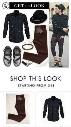 """""""Stud"""" by dappervigilante ❤ liked on Polyvore featuring Valentino, men's fashion and menswear"""