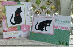 CTMH Blush paper, Artistry cartridge and Friendly Pets stamp set