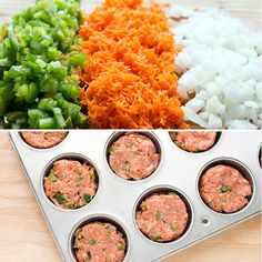 Recipe:+BBQ+Turkey+Meatloaf+Cups+with+Mashed+Cauliflower(Low Carb Meatloaf Muffins) Medifast Recipes, New Recipes, Dinner Recipes, Cooking Recipes, Healthy Recipes, Bariatric Recipes, Cooking Time, Favorite Recipes, Dinner Ideas