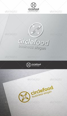 Circle Food Logo — Vector EPS #meal #cooking • Available here → https://graphicriver.net/item/circle-food-logo/6323660?ref=pxcr